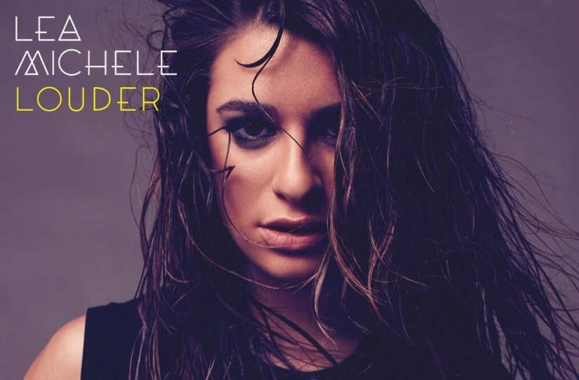 Lea Michele unveils the cover for 'Louder'